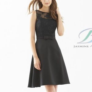 Formal Satin and Lace Knee Length
